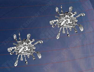 2x Car Stickers SPLAT STICKER BOMB Black & White Funny Van Window Bumper Printed
