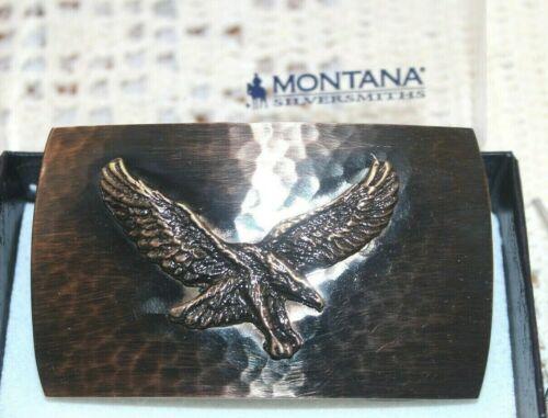 NIB Montana Silversmiths Belt Buckle Small  Cascade Hammered Eagle Msr $79