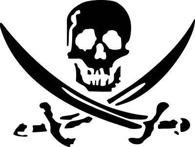 Bones Decal (Pirate Decal Skull Bones Swords Cross Ship Window Bumper Sticker Car)