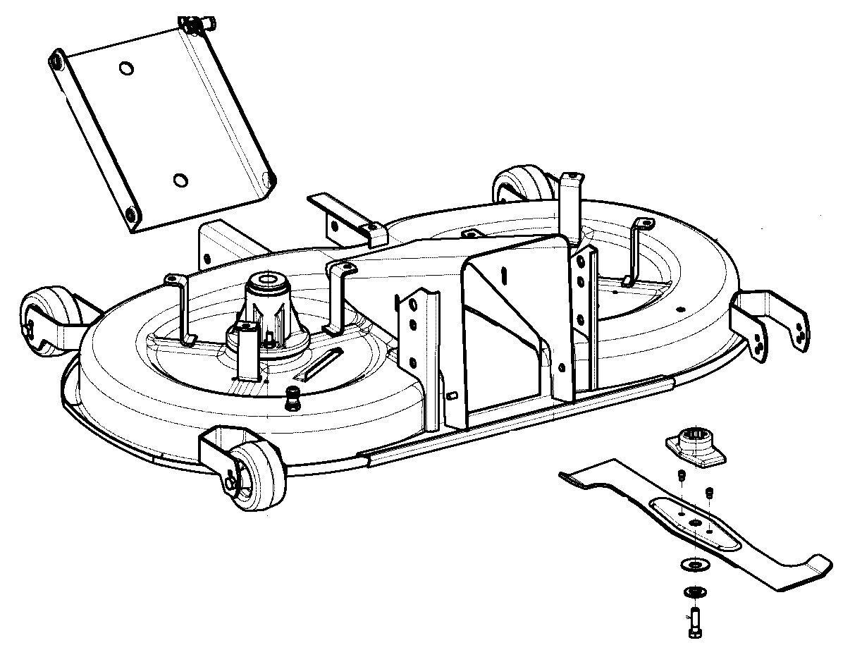 Messer Messersatz  Rasentraktor Viking MT 640 MT 680   Modelle 102cm