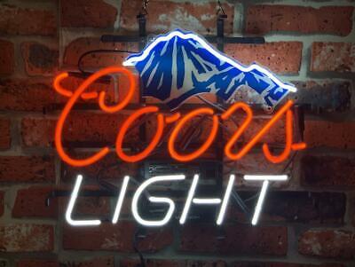 Coors Light Neon Sign - New Coors Light Mountain Beer Bar Neon Sign 17