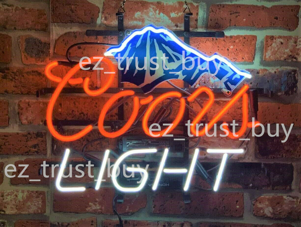 "New Coors Light Mountain Beer Bar Neon Sign 19""x15"""
