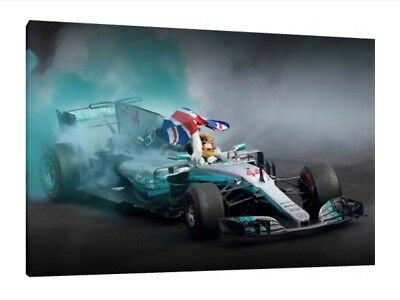 Mexico 2017 GP - Lewis Hamilton 30x20 Inch Canvas - Framed Picture F1 Poster