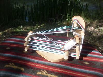 Packable Rustic Wee Sized  Inkle Weaving Loom /Tool/Instructions