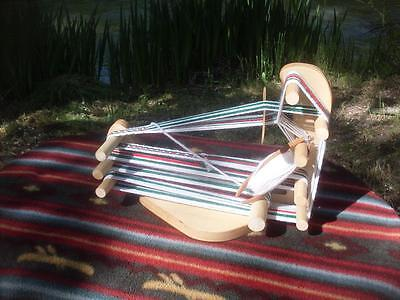 Rustic Very portable Inkle Weaving Loom /Tool/Instructions