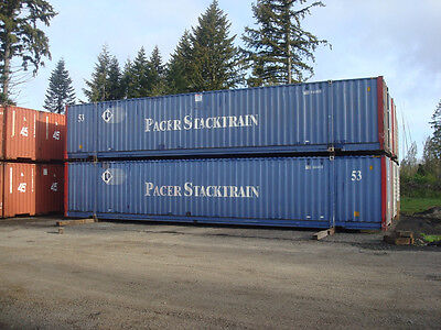 Used Pacer Stacktrain 53' High cube steel shipping containers Seattle, WA