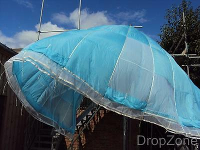 Ex British Military Paratrooper Blue Reserve Irvin Parachute Canopy, Backdrop