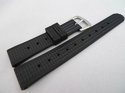 Men's Vintage SEIKO Reproduction 19mm Waffle Strap 6105 Diver Homage