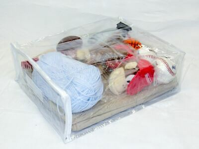 Clear Vinyl Zippered Sweater Clothing Storage Bag 11 x 15 x 6 Set of 10 Clear Vinyl Zippered Bag