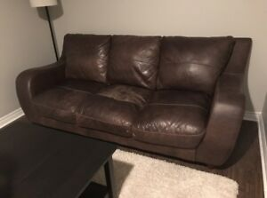 Cindy Crawford Leather Couch