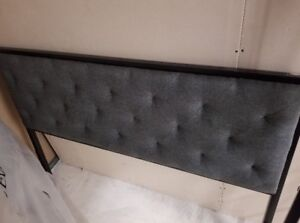 Headboard and frame for a double size bed