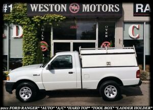 2011 Ford Ranger AUTO*A/C*HARDTOP*TOOL BOX*LADDER HOLDER*