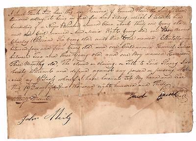 1830 Bill of Sale Title Slave Woman Clara & 5 Named Children Shenandoah Virginia