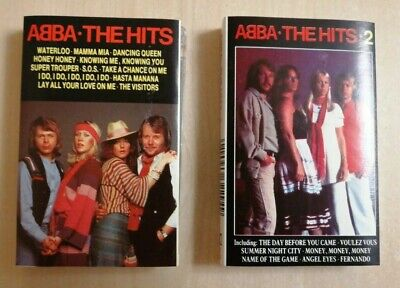 ABBA ~THE HITS 1&2 ON CASSETTE TAPE 1987/88