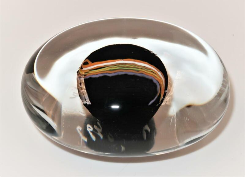 """Kosta Boda Art Glass Bertil Vallion  492 Oval Paperweight, 3 1/2"""" x 2 5/8"""""""