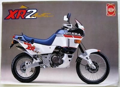 GILERA XR 2 Original Motorcycle Sales Sheet Italian