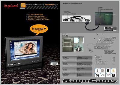 """7""""Waterproof Monitor HD HDMI Marine LCD TFT For Garmin 8400 8600 Raymarine GS ES for sale  Shipping to India"""