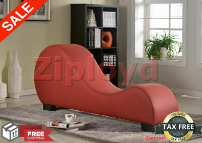 Leather Chaise Lounge Yoga Chair Recliner Sex Sofa Loveseat