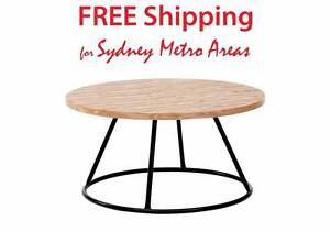 40% OFF - Industrial Round Coffee Table Zetland Inner Sydney Preview