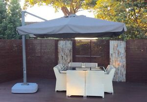 Outdoor dining cane table and 8 chairs Sans Souci Rockdale Area Preview