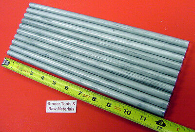 10 Pieces 12 Aluminum 6061 Round Rod 12 Long Solid .50 T6511 Lathe Stock