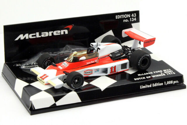 J. Hunt McLaren Ford M23 #11 Weltmeister Niederlande GP F1 1976 1:43 Minichamps