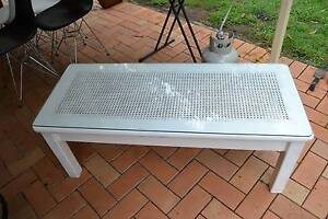 Shabby Chic Timber Coffee Table with Glass Top Nerang Gold Coast West Preview