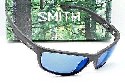 NEW SMITH REDMOND SUNGLASSES Black frame / Blue Mirror Chromapop Polarized -