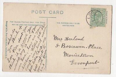 Looe 27 Nov 1906 Single Ring Postmark 849b