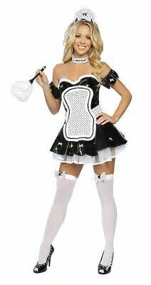 NEW Roma USA 4199 Sexy French Maid Women Costume Cosplay SM, M/L Halloween Dress
