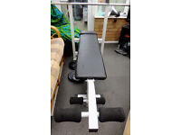 Weight lifting bench leg extension adjustable home gym