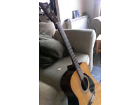 Yamaha acoustic guitar and new Rotosound strap and fender tuner