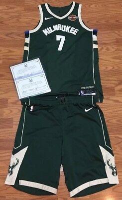 beff187e9a3 Thon Maker Milwaukee Bucks Game Used Worn Playoff Jersey Uniform Game 7  Team COA