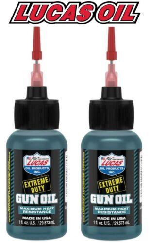 2 - LUCAS Extreme Duty Gun Oil 1oz Needle Oiler Bottle 10875