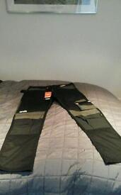 """SCRUFFS WORK TROUSERS 34 LONG """" (NEW WITH TAGS )"""
