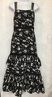 Prabal Gurung Dress Black And White Silk Lace Straps And Inserts Nwt Size 0-2