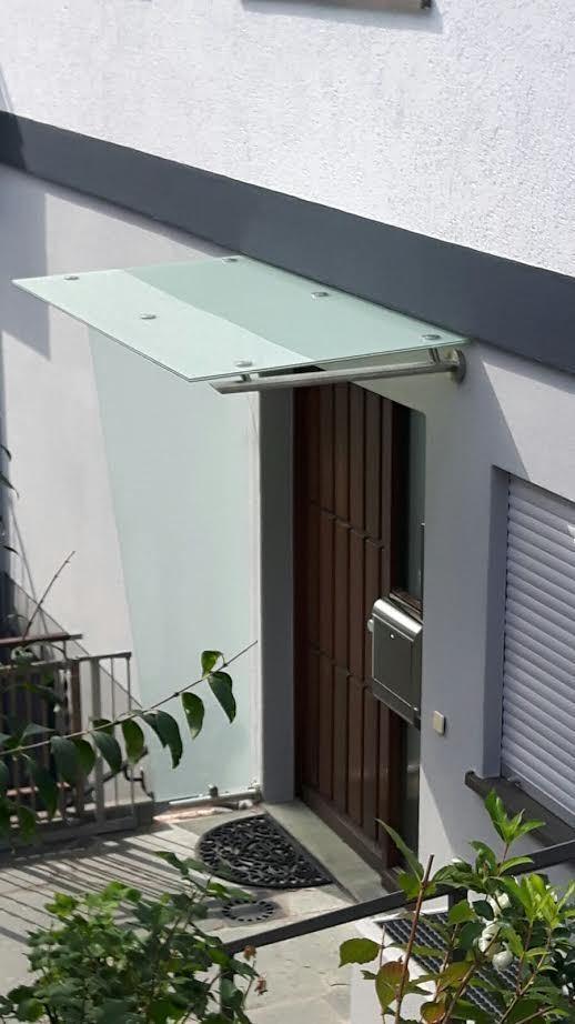 edelstahl vordach modell smart inkl vsg tvg mit. Black Bedroom Furniture Sets. Home Design Ideas