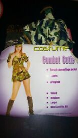 army combat fancy dress costume