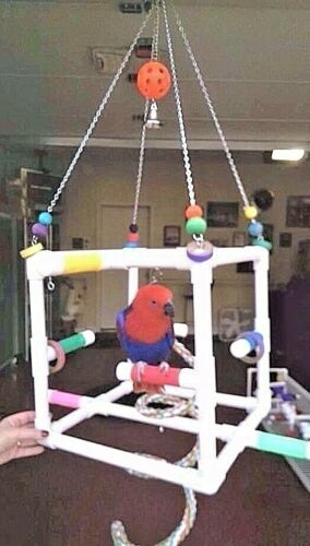 """""""CUBE"""" Hanging Perch  Stand**  Birds Love Them"""