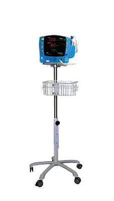 Rolling Stand For Ge Dinamap Pro 100 300 Patient Monitor  New Small Wheel