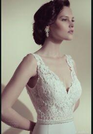 Flora bridal Israeli ivory stunning wedding dress