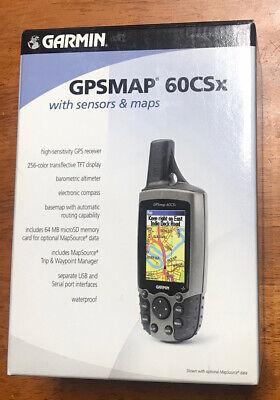 Garmin GPSMAP 60CSx Handheld GPS Bundle. Free Shipping. Open Box.