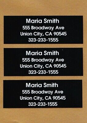 Personalized Black And White (Personalized  Black & White Ink Shaft/Golf Club  Labels With Any Name, Address.. )