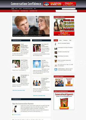 Conversation Confidence Blog Website With Affiliate Store And Banners