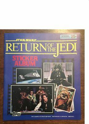 1983 Topps Panini Star Wars Return of the Jedi Empty Sticker Album Book Mint