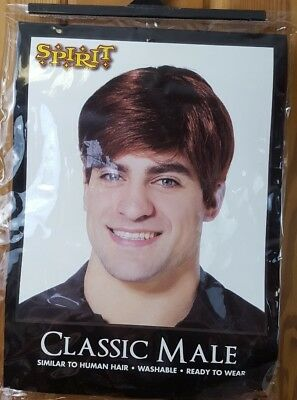 Spirit Halloween Men's Classic Male Brown Wig - Spirit Halloween Brown Wig