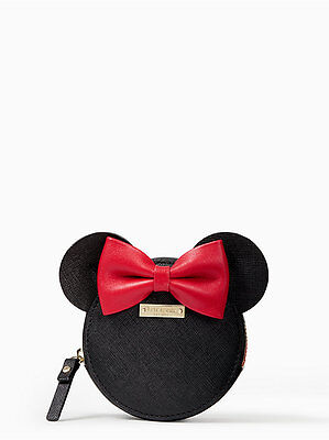 Kate Spade Coin Purse Disney for minnie mouse Leather Rare Ltd Edition! ~NWT~