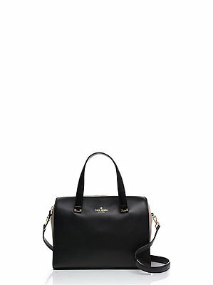 Nwt Kate Spade Parker Street Black Leather Suede Allena Satchel Purse Handbag