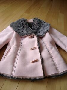 Moffi Intnl. Pink Suede Leather Faux Fur Lined Aspen Coat -MINT Kitchener / Waterloo Kitchener Area image 4