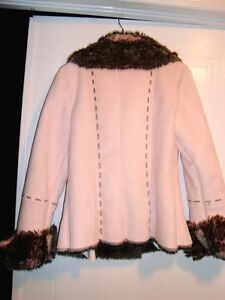 Moffi Intnl. Pink Suede Leather Faux Fur Lined Aspen Coat -MINT Kitchener / Waterloo Kitchener Area image 7